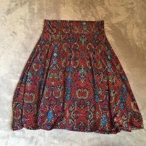 Lularoe Madison mosaic skirt size small